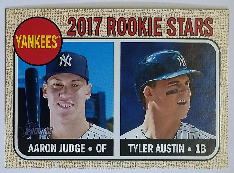 2017 Topps Heritage Aaron Judge Rookie Card 214 Rc Yankees Pack Fresh Hot
