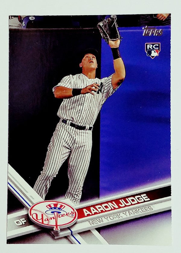 2017 Topps Aaron Judge Rookie Card 287 Pack Fresh Rc Yankees Home Runs Hot