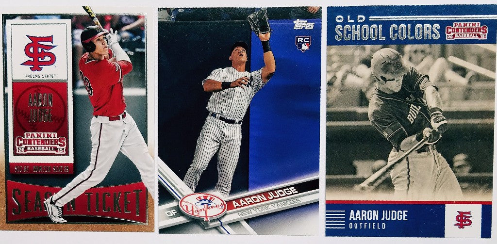 Aaron Judge Rookie Card 3 Card Lot 17 Topps Base 2 Different 15 Panini