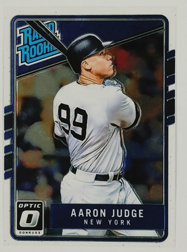 Aaron Judge, Yankees, Rookie, Home Runs, Bombers, Bronx, New York, RC, Baseball, Card, Panini, Donruss, Optic, Rated Rookie, Limited, Rare