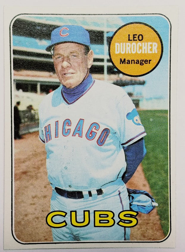 Leo Durocher, Brooklyn Dodgers, Manager, World Series, Cubs, Mets, HOF, Topps, 1969, original