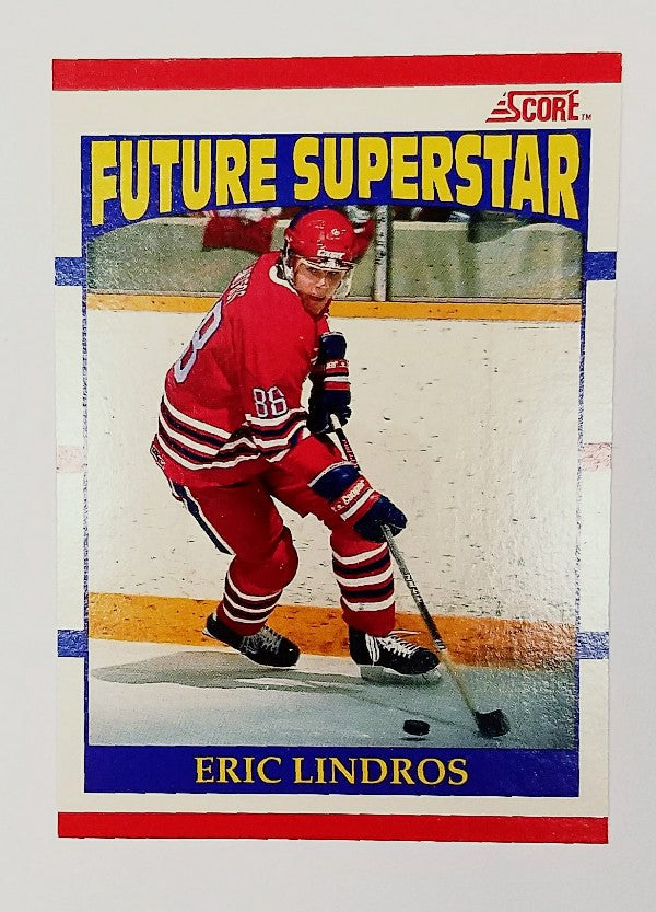 Eric Lindros, Rookie Card, Philadelphia, Flyers, Hockey, NHL, Score
