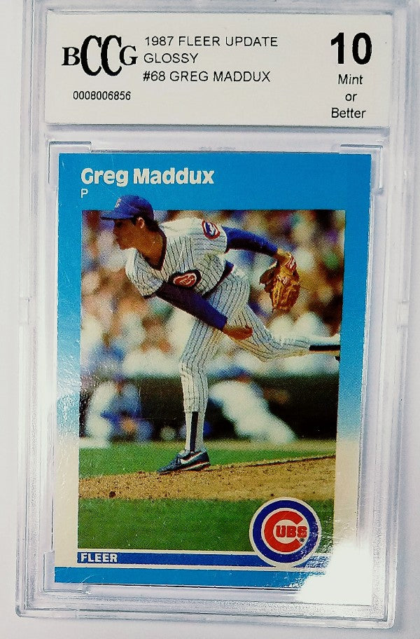 Greg Maddux, Rookie, Card, Graded, Mint, Becketts, HOF, Cubs, Braves, Pitcher, Professor, RC