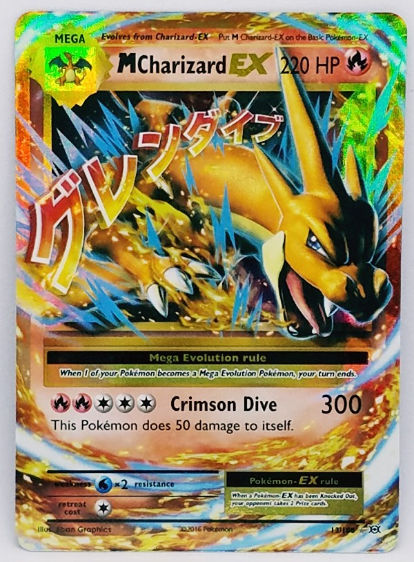 Mega Charizard, Ex, Full Art, FA, Ultra Rare Holo, Pokemon, XY, Evolutions, M Charizard