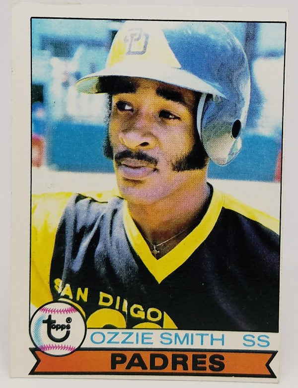 Ozzie Smith, Rookie, Topps, Padres, St. Louis Cardinals, Shortstop, Wizard, HOF, RC, Baseball Card