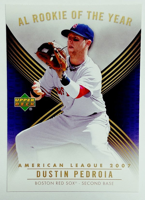 Pedroia, Rookie Card, Boston, Red Sox, ROY, American League