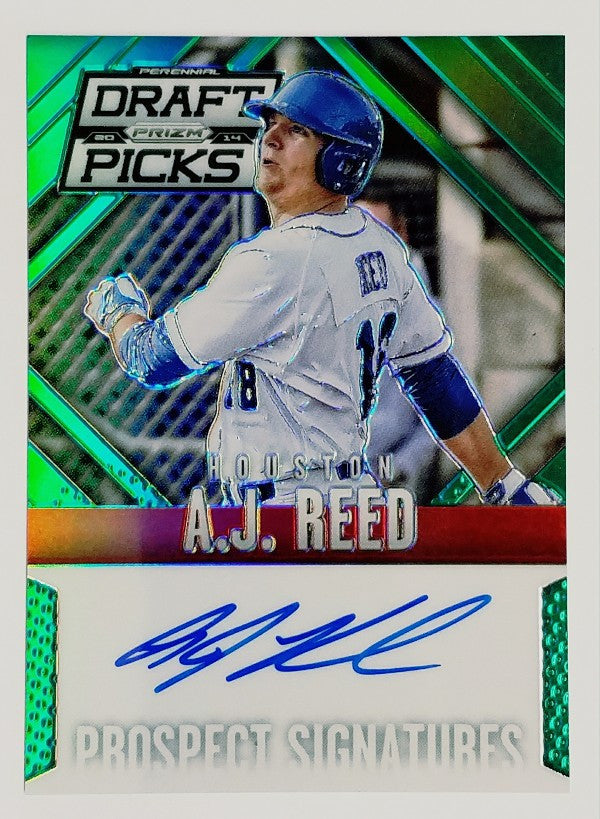 Reed, Panini, Rookie Card, Auto, Green, Refractor, Serial, Numbered, Astros, Houston