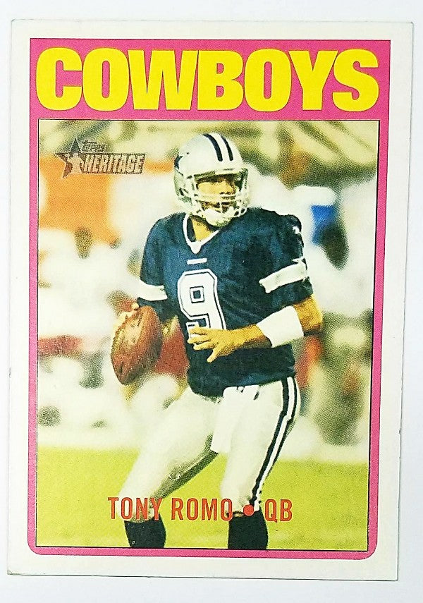 Tony Romo, 2nd Year Card, Almost a Rookie Card, 2005, Topps, Heritage, Dallas Cowboys, Quarterback, QB, RC