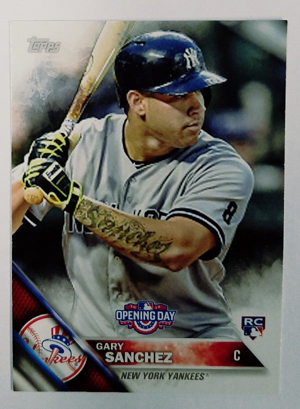 Gary Sanchez, Yankees, Rookie, Home Runs, Bombers, Bronx, New York, RC, Baseball, Topps, Opening Day, Catcher, Draft, ROY