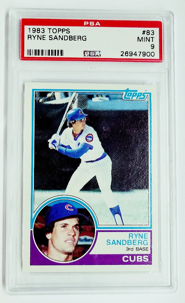 Ryne Sandberg, Rookie Card, Topps, HOF, Chicago, Cubs