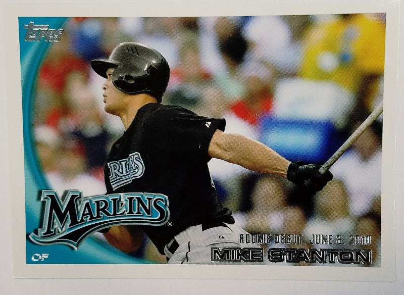 Mike Stanton, Giancarlo Stanton, Marlins, Update, Rookie, Home Runs, Miami, Florida, RC, Baseball, Topps