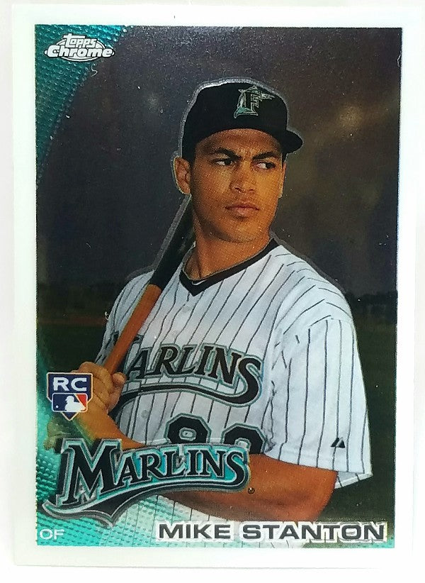 Mike Stanton, Giancarlo Stanton, Marlins, Chrome, Rookie, Home Runs, Miami, Florida, RC, Baseball, Topps