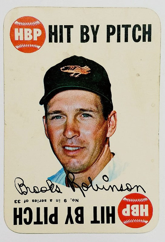 Brooks Robinson, Baltimore, Orioles, 3rd Base, HOF, Gold Glove, World Series, Topps, 1968, Game, original