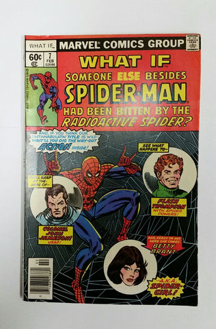 What If #7, Marvel Comics Feb 1978 Volume 1, Spider-Man, Uatu, Flash Thompson, Shooter Editor, Hi-Gloss Cover, Original Owner, CardboardandCoins.com