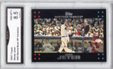 2007 Topps #40 (SP) Derek Jeter (Bush & Mantle), Grade 8.5 NM-MT+, CardboardandCoins.com