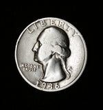 1936-D SILVER Washington Quarter, SPARKLING, Rare Low-Mintage Coin -very few produced!, CardboardandCoins.com