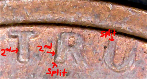 1972 1c Lincoln Memorial Cent/Penny w/ Dupe/Doubled Letters/Numbers HOT ERROR!, CardboardandCoins.com