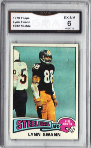 Lynn Swann, Rookie, Graded 6, Wide Receiver, Pittsburgh, Steelers, Topps, Touchdowns, TDs, Super Bowl, HOF, NFL, Football Card