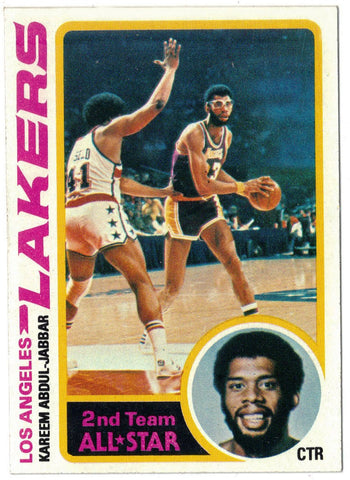 Kareem Abdul-Jabbar, Topps, Basketball Card, Los Angeles, L.A. Lakers, NBA, Scoring