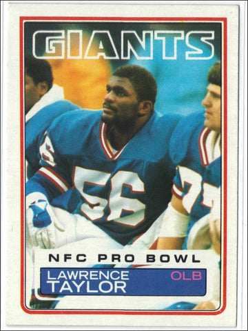 "1983 Topps #133 Lawrence Taylor, LB, NY Giants HOF NM NFL ~ NICE ""LT"" CARD !, CardboardandCoins.com"