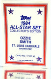 Sport_Baseball, Company_Topps, Company_ALL, Team_St. Louis Cardinals, Graded-by_CardboardandCoins, Smith, Ozzie, Cardinals, St. Louis, Glossy, All-Star, Collector's Edition, Gloss, Redemption, Mail-in, Send-in, Exclusive, Limited, Rare, Baseball Card, Topps, 1984