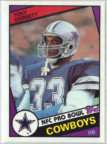 1984 Topps #238 TONY DORSETT, GRADED 8.8 NM-MT+ Dallas Cowboys, Running Back!, CardboardandCoins.com