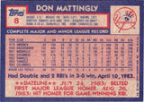 1984 Topps #8 Don Mattingly Rookie Card, Grade 9.6 MINT, CardboardandCoins.com