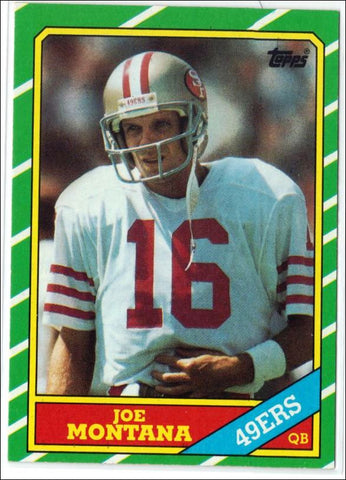 Montana, Topps, San Francisco, 49'ers, Niners, HOF, Quarterback, Super Bowl, MVP, NFL, Football Card