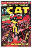 """BEWARE THE CAT"" #1 Marvel 1972, 1ST APP CAT, GREER GRANT, TIGRA, ZABO, CardboardandCoins.com"