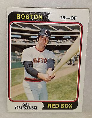 1974 Topps #280 Carl Yastrzemski, Red Sox Graded 8 NM-MT HOF, Yaz, Triple-Crown, CardboardandCoins.com