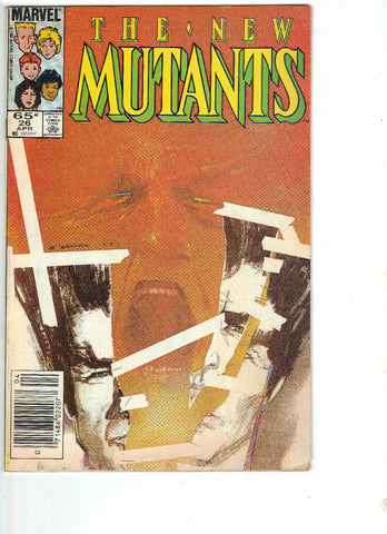 New Mutants, 26, Marvel, 1st Appearance Legion, TV Show, Comic Book, Comics, Vintage, Book, Collect, Trading, Collectibles