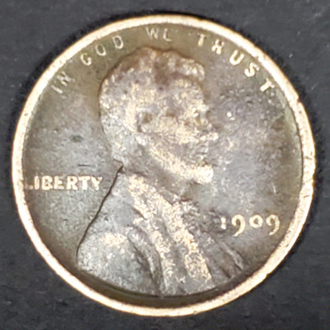 1909, 1909-P, Philadelphia, Lincoln, Cent, Penny, Coin, Collectible, Copper, Wheat Cent, Collect, Hobby, Coins