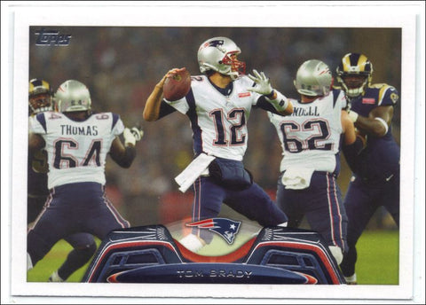 2013 Topps 100 Tom Brady Patriots White JerseyPhoto Variation, Graded Mint, CardboardandCoins.com