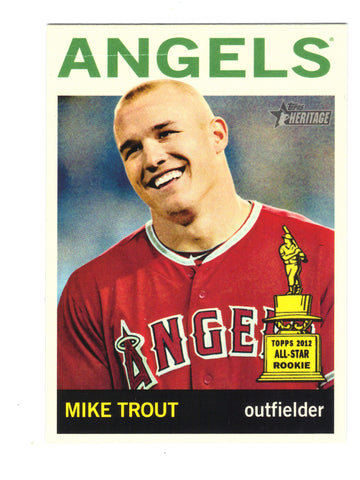 2013 Topps Heritage Mike Trout 430a SP SHORT VARIATION LOW POP HIGH # ANGELS, CardboardandCoins.com