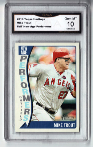 2014 Topps Heritage Mike Trout New Age Performers GRADED 10 GEM MINT #NAP-MT, CardboardandCoins.com