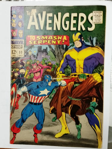 The Avengers #33 (Oct 1966, Marvel), Original Owner Smoke-Free Home Nice Comic Book