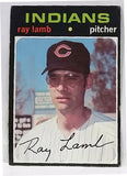 1971 Topps #727 RARE SHORT PRINT (SP) Ray Lamb, Pitcher, Indians, EX-NM, CardboardandCoins.com