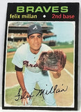 1971 Topps #81 Felix Millan, 2nd Base, Braves, In-Demand/Liquid, NM-MT+, CardboardandCoins.com