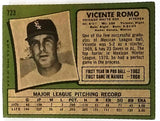 RARE 1971 Topps #723 Short Print (SP) High # Vicente Romo, Pitcher, White Sox VG-EX+