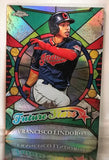 "2016 Topps Chrome #FS-2 Francisco Lindor ""Future Stars"" ROOKIE RC World Series, CardboardandCoins.com"