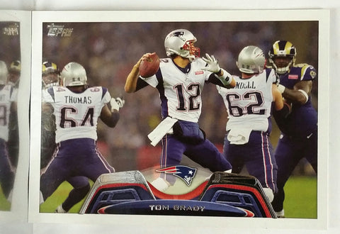 Brady, Tom, Quarterback, Patriots, New England, Super Bowl, MVP, QB, Pro-Bowl, Passing, Yards, Belichick, Gronkowski, Football Card, Topps, 2013