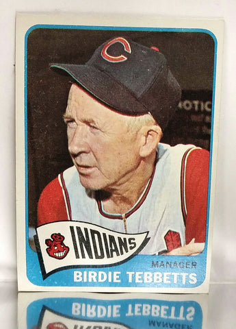 1965 Topps #301 Birdie Tebbetts, Manager, Cleveland Indians, NM-MT+ HOT!, CardboardandCoins.com