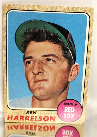 "1968 Topps # 566 Ken ""Hawk"" Harrelson, Outfield, Boston Red Sox, NM+"