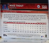 2015 Topps #300 SPARKLING Rainbow Foil Mike Trout, Short Print (SP) Variation, CardboardandCoins.com