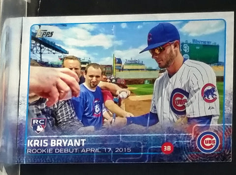 2015 Topps Update #US283 KRIS BRYANT ROOKIE Signing Autographs. Rare Horizontal version., Baseball Cards, Topps, - CardboardandCoins.com