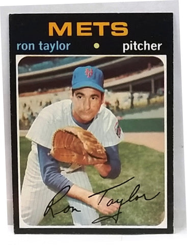 ULTRA RARE 1971 Topps #687 Short Print (SP) Ron Taylor, Pitcher, New York Mets, Ex-NM, High-Number Hot Card!