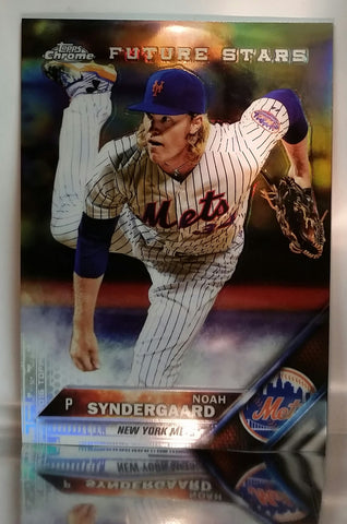 2016 Topps Chrome #73 Noah Syndergaard Future Star REFRACTOR THOR RC Mets, CardboardandCoins.com