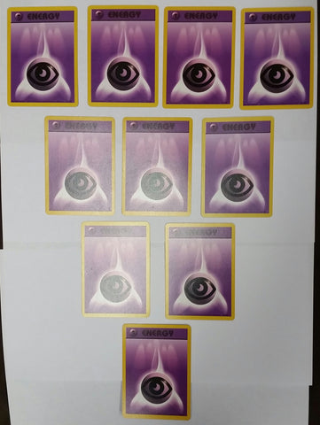 LOT of 10x PSYCHIC ENERGY CARDS 101/102 * POKEMON BASE SET TCG WOTC HOT! NM+, CardboardandCoins.com