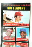 RBI Leaders, National League, NL, Johnny Bench, Tony Perez, Billy Williams, Reds, Cubs, Topps, Baseball Card, 1970, 1971
