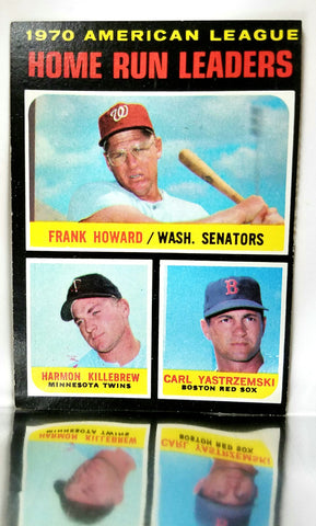 Home Run Leaders, American League, AL, Frank Howard, Harmon Killebrew, Carl Yastrzemski, Red Sox, Twins, Senators, Topps, Baseball Card, 1970, 1971